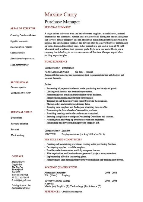 procurement resume sample procurementmanagertechnicalassistantresume