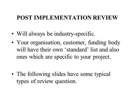implementing customer reviews on your introduction to project management ppt