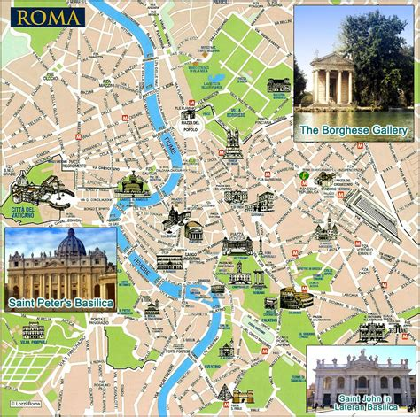 rome city map large detailed tourist map of rome city rome city large