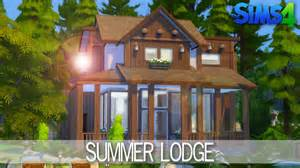 House Builder The Sims 4 House Building Summer Lodge Speed Build
