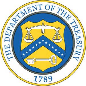 Us department of the treasury logo vectors like