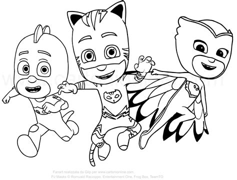 coloring pages pj masks pj mask coloring pages pictures to color and print