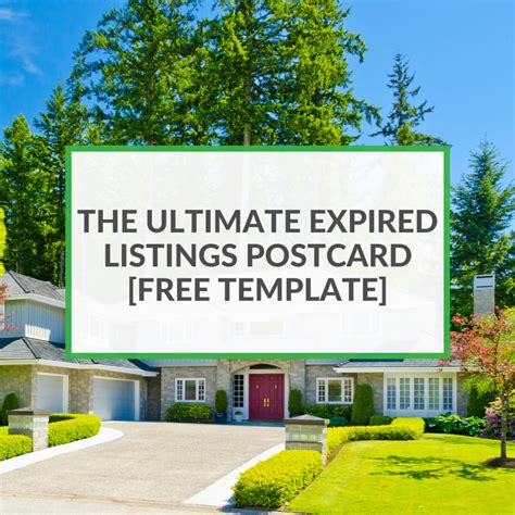 the ultimate expired listing postcard free template