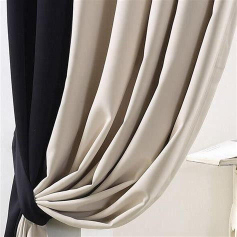 Black And Beige Curtains Simple Casual Blackout Curtain In Beige And Black Color For Bedroom Or Living Room