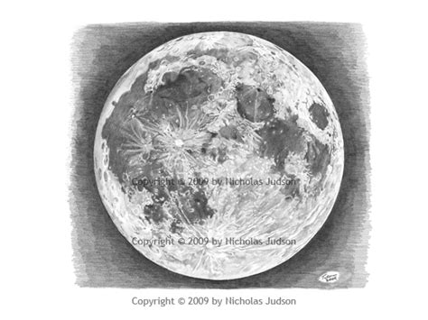 Drawing The Moon by How To Draw Fullmoon