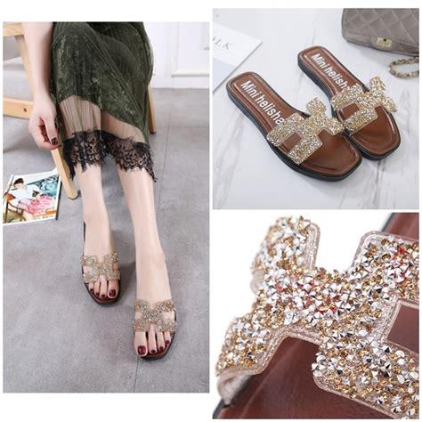 Sendal Jepit Gold jual shs009 gold sandal fashion import grosirimpor