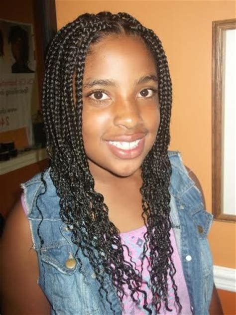 Tweens Box Braids Hairstyles With Color | 1000 images about teens and tweens braids and natural