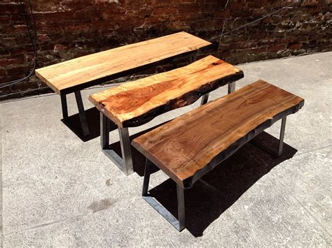 wood bench metal legs live edge benches with metal bench legs metal legs for