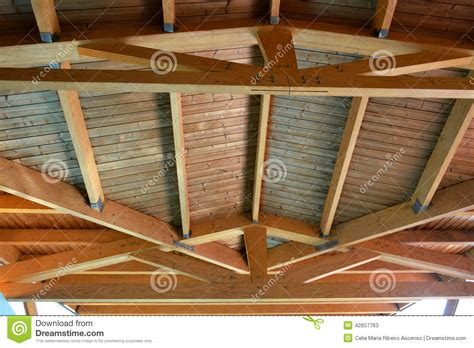 the ceiling is the roof wooden house roof ceiling detail stock photo image 42657763