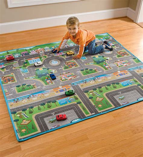 Play Mats For Boys by Hearthsong Reversible Roadway Play Mat Ebay