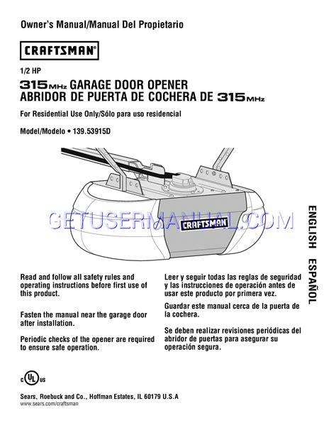 how to program a craftsman garage door opener remote craftsman 315 garage door opener manual wageuzi