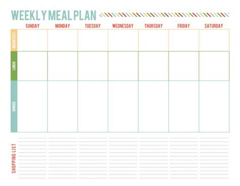 a well feathered nest plan your life printable planning a well feathered nest one week meal planning page