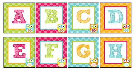 printable letters of the alphabet for word wall 7 best images of owl alphabet printable owl word wall