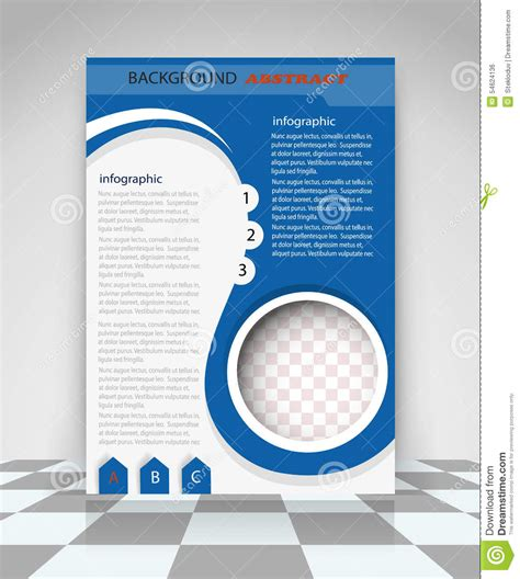 blue flyer design stock vector illustration of leaflet