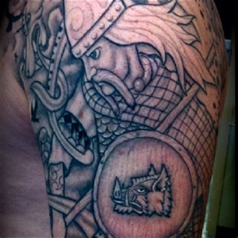 scottish warrior tattoos custom freehand celtic warrior by rob