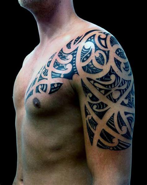 tattoo upper arm shoulder upper arm and shoulder maori tattoo on man tattoo