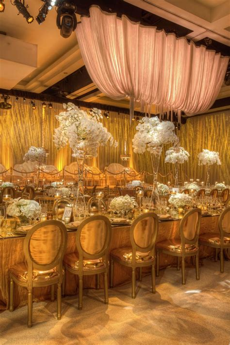 Gold Wedding Decor blue and gold table decoration ideas photograph gold and w