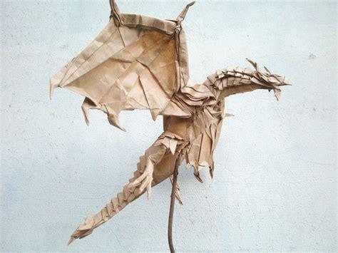 Origami Satoshi Kamiya - test fold of the alduin by kamiya satoshi folded by artur