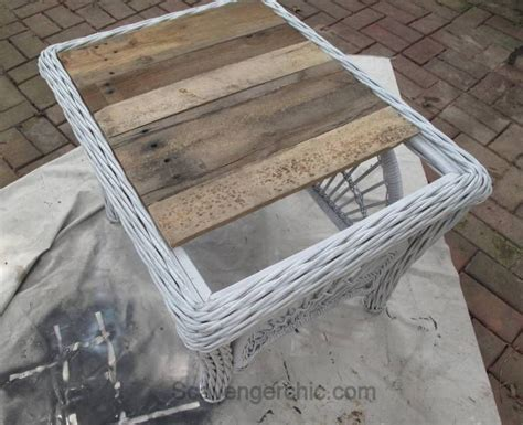 outdoor table top ideas how to replace a glass tabletop with a rustic wood tray