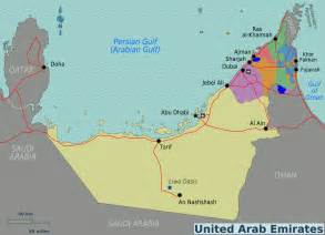 middle east map in arabic map of united arab emirates overview map regions worldofmaps net maps and travel