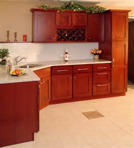 Cherry Shaker Kitchen Cabinets High End Design W Herritage Cherry Shaker Rta Cabinets