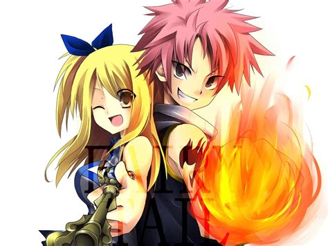 fairy tail anime natsu dragneel images lucy and natsu hd wallpaper and