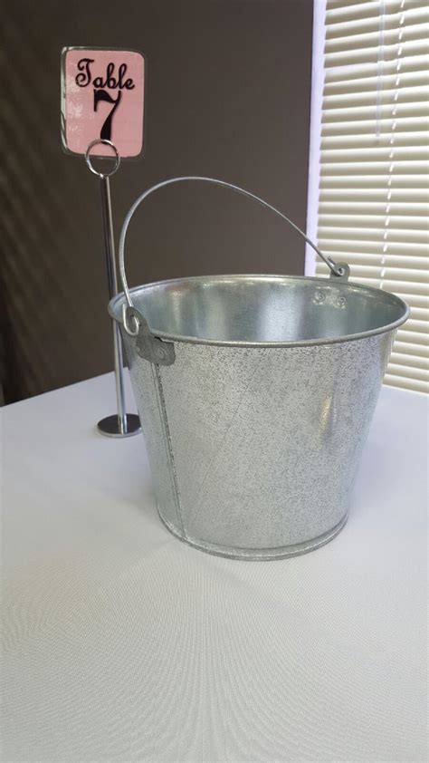 Pail Tin Bucket Broadway Party Tent Rental Tin Buckets For Centerpieces