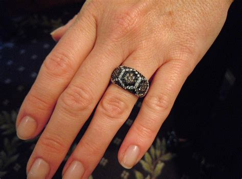 Black Finger With A Ring by Wedding Ring On With Rings On Fingers