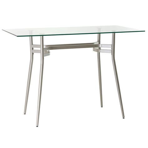 glass top bar table alistair long clear modern bar table eurway furniture