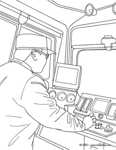 electric train coloring page train driver driving an electric train coloring pages