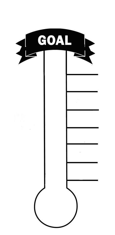 fundraising meter template blank thermometer printable for fund raising creating a
