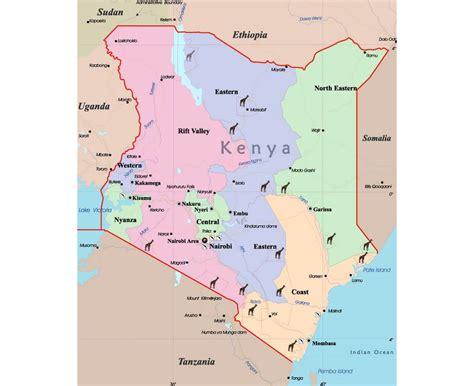 map of kenya africa maps of kenya detailed map of kenya in tourist