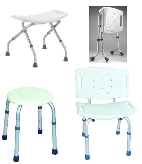 Folding Shower Stool by Folding Bath Shower Seat Stool Bench Adjustable Height