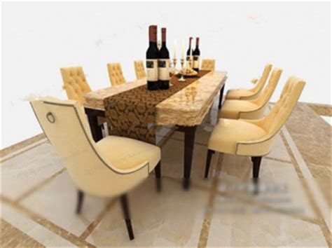 luxury dining tables and chairs 3d models 3d model