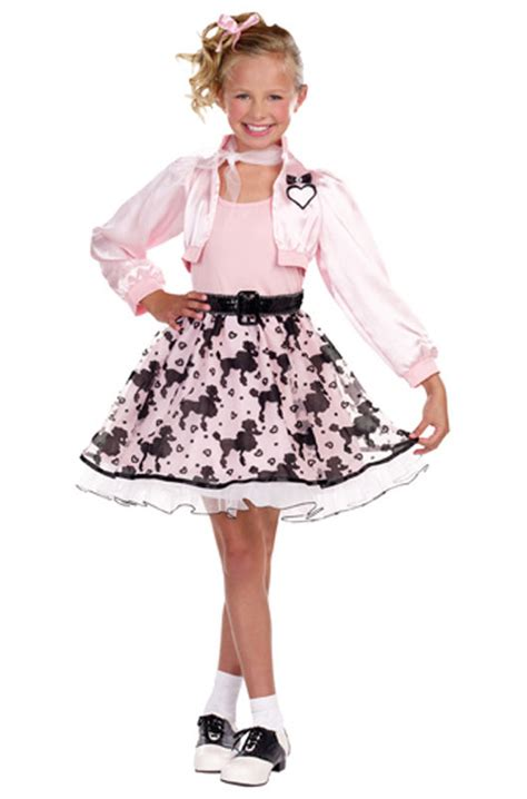 50 girl halloween costumes pretty in poodle 50 s child halloween costume ebay