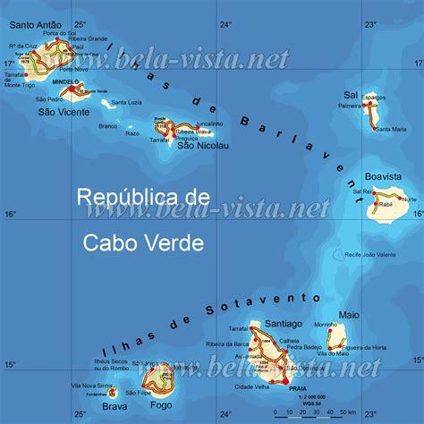 mapa de cabo verde cabo verde mapa capital