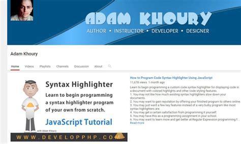 javascript tutorial for net developers best youtube channels for developers designers code geekz