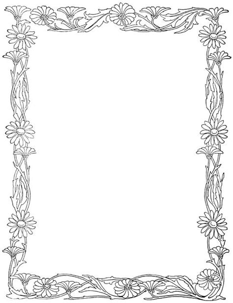 coloring pages of flower borders flower border coloring clipart best