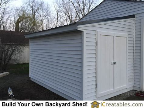 Attaching A Shed To A House by Completed Lean To Shed Attached To Existing House Or Garage Wall Lean To Shed Plans