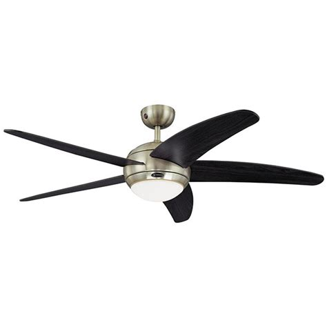 westinghouse bendan 52 inch satin chrome ceiling fan with