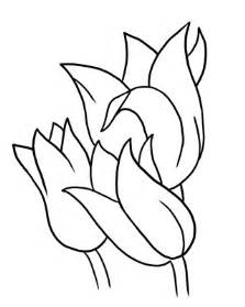 Flowers Drawings Outlines by Flower Outline Template Clipart Best