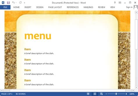 menu template powerpoint free powerpoint menu template best menu maker templates