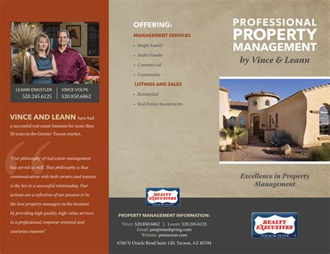 Property Management Brochure Jennifer Mead Creative Property Management Brochure Templates