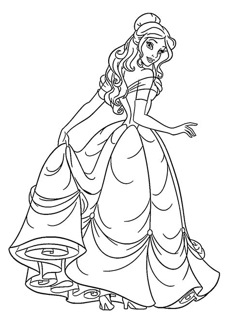 beauty princess colouring pages  kids printable