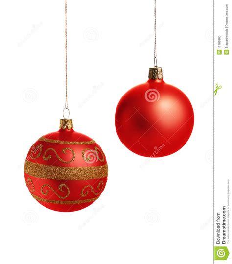 imagenes navidad bolas bolas rojas de la navidad foto de archivo libre de