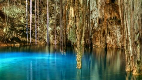 clear blue water  xkenken cenote  dzitnup mexico