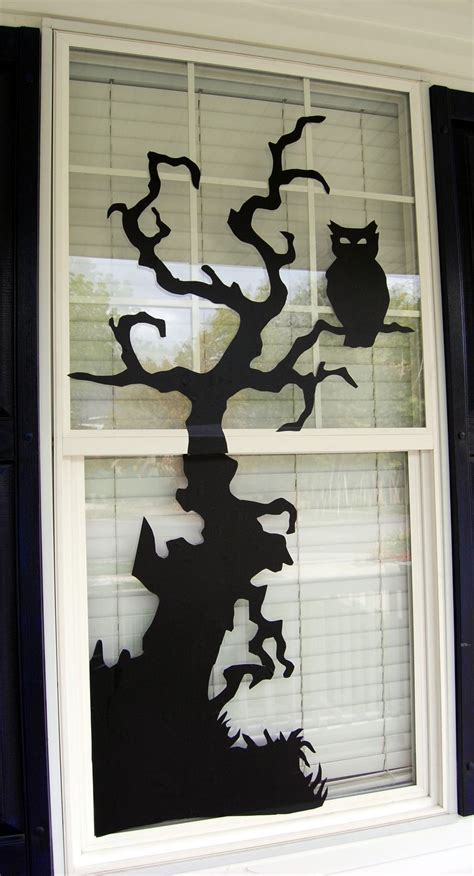 window silhouettes template window decorations ideas to spook up your neighbors