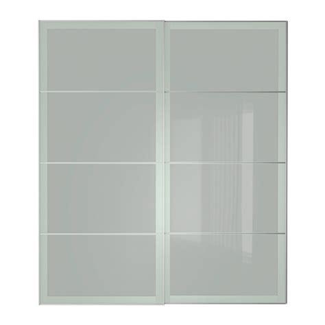 Sliding Frosted Glass Closet Doors Ikea Sekken Pair Of Sliding Doors 200x236 Cm Ikea