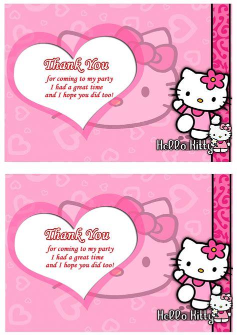 printable hello kitty thank you cards hello kitty thank you cards birthday printable