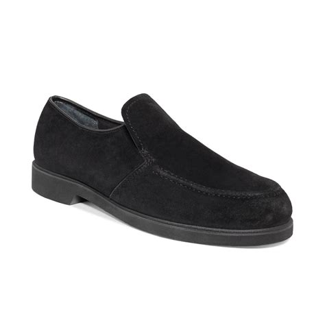 hush puppies suede shoes hush puppies 174 earl slipon loafers in black for black suede lyst